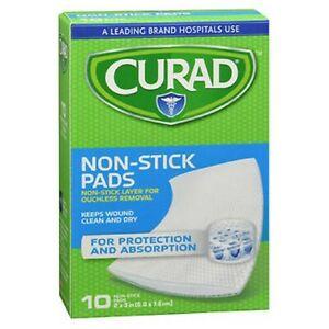 Curad Telfa Non-Stick Sterile Pads 2 X 3 inches; 10 Eac