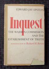 1966 INQUEST by Edward Jay Epstein HC/DJ FN/GD+ Viking Book Club