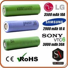 Batterie ricaricabili li-ion 18650 3.7 v LG SAMSUNG SONY vtc6 mj1 29e a saldare