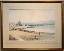 Original Irish Art Framed Watercolour Painting WARRENPOINT by WILLIAM CUNNINGHAM
