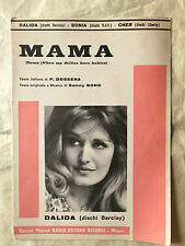 SPARTITO MUSICALE MAMA WHEN MY DOLLIES HAVE BABIES DALIDA SONIA CHER SONNY BONO