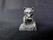 """Franklin Mint """" Raccoon """" Woodland Animals Collection"""
