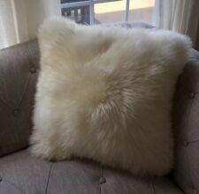 """NEW SKOLD 20""""x20"""" Cushion cover sheepskin white pillow Cover Bedroom Living Room"""
