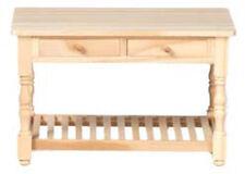 Arbeitstisch naturholz ca. 10 x 6,3 x  6,5 cm mit 2 Schubladen Puppenstube 1:12