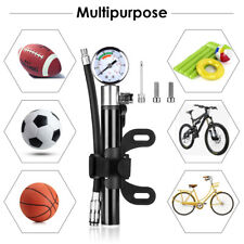Bicycle Pump With Gauge Aluminum Alloy for Road Bike Mtb Bmx Bikes Sport Ball