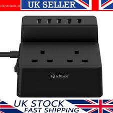 ORICO 2 Gang Surge Protected with 1.5M 13 Amp Extension Lead with 5 USB Charging