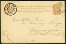 Netherlands Indies 1896 card, Singapore Agent