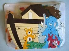 Animaux Puzzle en bois Arche de Noé Neuf Jouet en bois educatif  NEUF