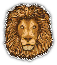 Lion Head Car Bumper Sticker Decal 4'' x 5''