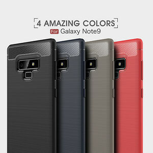 Shockproof Armor Carbon Fiber Hybrid Brush Case Cover For Samsung Galaxy Note 9