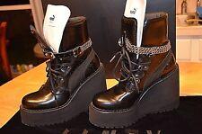 FENTY PUMA by RIHANNA Women SB Wedge black chain Boots Size 7.5 Slides bow  NEW