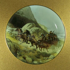 The West Of Frank McCarthy Attempt On The Stage Plate Stagecoach Hamilton Rare