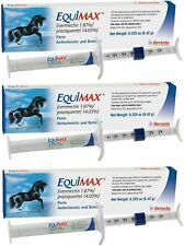 Equimax Horse Wormer Dewormer Paste, FDA Approved Tape Worm 6.42 gm (3 Tubes)
