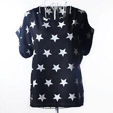 Summer Fashion Women Chiffon Short Sleeve Loose Casual T-shirt Tops Shirt Blouse