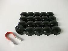 Wheel Nut Covers 17mm Black Fit Audi A1 A2 A3 A4 A5 A6 A7 A8 TT (PE1098)