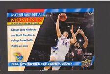 2013 Upper Deck Kansas #97 2000 Wins Memorable Moments Mint KU