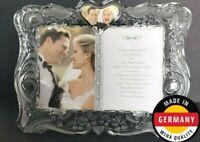 Lenox Gorham Sentimental Traditions Crystal Invitation Wedding Frame Dual 5x7