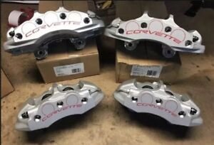 2006-2013 C6 Z06 Grand Sport Silver Caliper Set Front & Rear NEW Genuine GM