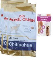 3x1,5kg  Royal Canin Chihuahua 30 Junior Hundefutter +80g Fleischsnacks