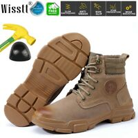 Safety Ankle Work Boots Men's Shoes Steel Toe Cap Indestructible Water Resistant