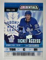 2019-20 Credentials Ticket Access Acetate #TA-JT John Tavares /199