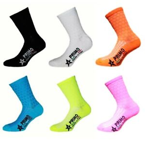 PRIMO ESTATE BREATHABLE LIGHT FABRIC MADE IN ITALY SUMMER BIKE CYCLING SOCKS