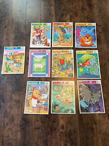 Lot of 9 Vintage Golden Book & Disney Frame-Tray Puzzles Aladdin Little Mermaid
