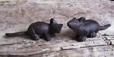 2 MÄUSE Gusseisen Gartendeko Mice Spitzmaus Mäuschen Feldmaus Gartenteich Maus