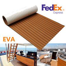 "Universal 94.5""X17.7""Brown Car SUV Boat Flooring Yacht EVA Foam Mat Teak Decking"
