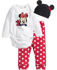 Set 3 pezzi Neonato Body - Set of 3 Baby Romper Pants Hat Minnie Mickey A620001