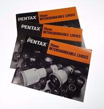 Pentax 35mm Interchangeable Lens (Instructional Booklet) 1983