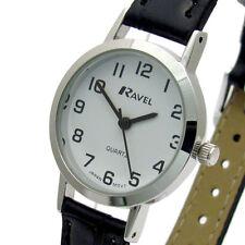 Ravel Ladies Super-Clear Easy Read Quartz Watch White Face R0102.02.2A