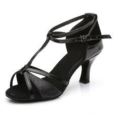 Women Girl lady's Ballroom Tango Latin Dance Shoes Dancing heeled Salsa 5 Colors
