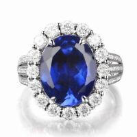 2.30 Carat Natural Blue Tanzanite IGI Certified Diamond Ring In 14KT White Gold