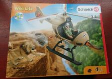NEW Schleich 42476 Animal Rescue Helicopter Wild Life Africa Aircraft lion hippo