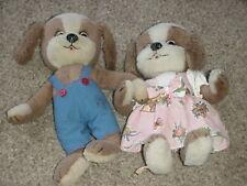 Schuco Vintage Boy & Girl Dressed Puppy Dog Set Bigo Bello Dangling Feet