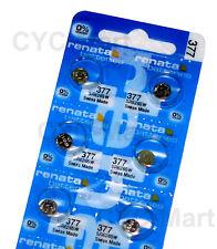 6 pcs x Renata 377 SR626SW Silver Oxide Watch Battery, Low Price Singapore Only
