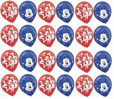 Mickey Mouse Birthday Party Favor (24CT) Latex Balloons New & Sealed Supplies~