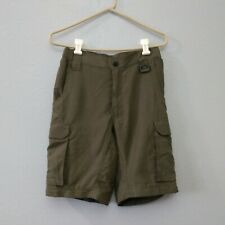 Bsa Boy Scouts of America Boys Youth Xs Green Cargo Outdoor Shorts
