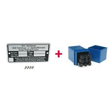 Typenschild BLANKO + Schlagzahlen für Simson S50 S51 S70 SR50 SR80 KR51 KR50 SR4