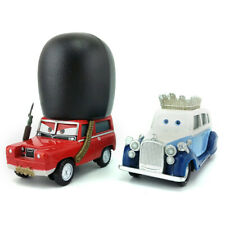 Disney Pixar Cars 2 The queen & Sgt Highgear Diecast Metal Toy Model Car 1:55