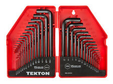 TEKTON Hex Key Wrench Set, Inch/Metric,30-Piece | 25253 with hinged storage case