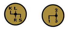 Aufkleber Label Sticker für Deutz Schaltschema D6006 Baureihe (3+4)