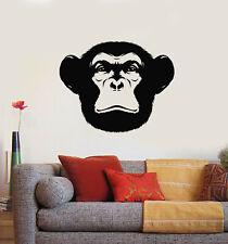 Vinyl Wall Decal Animal Head Mammal Monkey Chimpanzee Stickers Mural (g3761)
