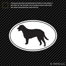 Curly Coated Retriever Euro Oval Sticker Die Cut Decal Vinyl dog canine pet