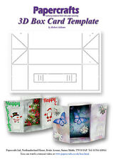 Robert Addams - 3D Box Card Template with full instructions 350 gsm Mylar