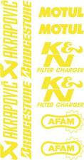 x10 belly pan Sponsor logo Stickers Akraprovic Bridgestone Motul Afam yellow 07