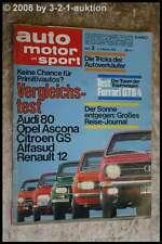 AMS Auto Motor Sport 3/73 Ferrari 365 GTB 4 Fiat Abarth 124 Rally Audi