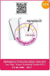 Ventilating Needles Make Repair Lace Front Hair Wig/Toupee/Hairpiece/Beard-DIY C