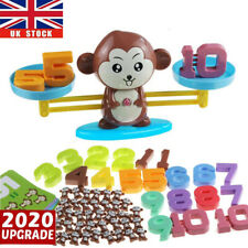 Kids Number Math Learning Puzzle Toys Monkey Balance Scale Fun Game Educational